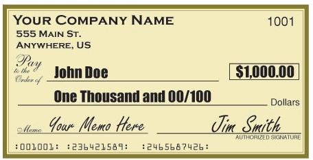 Large Check