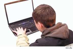teen with computer