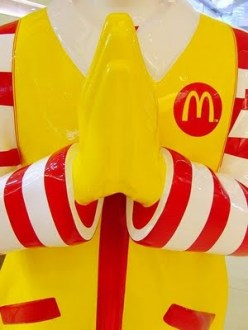 praying ronald Mcdonald