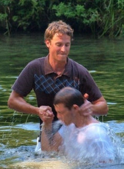 For Evangelicals, this is the far more familiar image which comes to mind at the mention of the term 'baptism.'