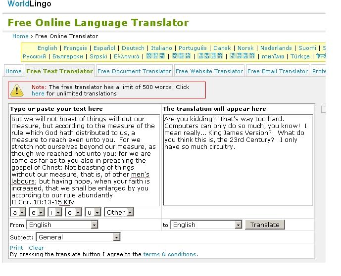 II Cor 10_13--15  Online Translation