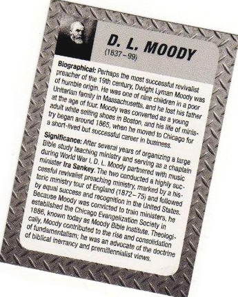 Theologian Trading Cards - D L Moody