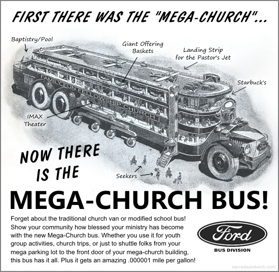 Mega-Church Bus from Sacred Sandwich