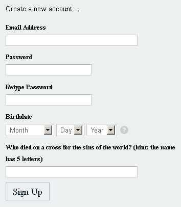 Online Ordination Form