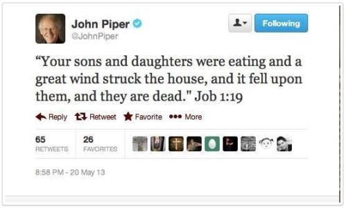 John Piper - after Oklahoma May 20