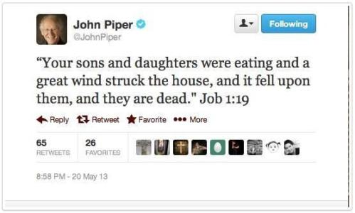 John Piper - after Oklahoma May 20