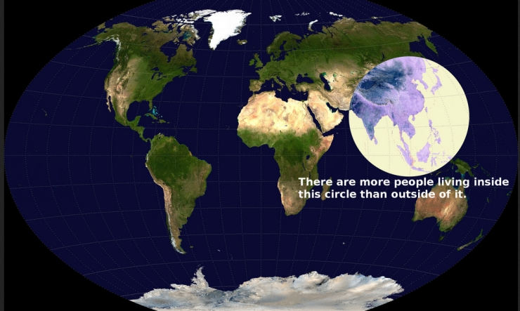 Population Inside the Circle