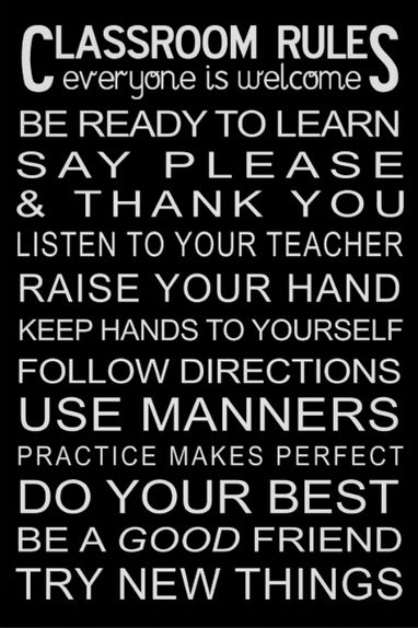 Classroom rules poster from Zazzle dot com.gif