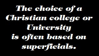 Choosing a Christian College