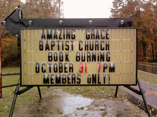 Amazing Grace Baptist Church Book Burning