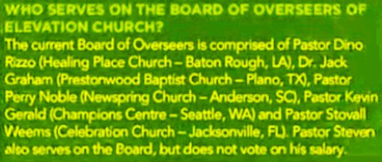 Steven Furtick Board of Overseers
