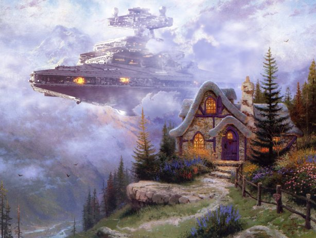 How to Make Thomas Kinkade Paintings Totally Awesome