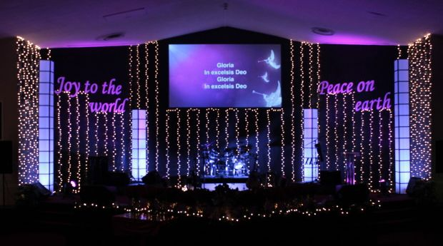 Church Stage Design Ideas - Harvest Chapel Christian Fellowship