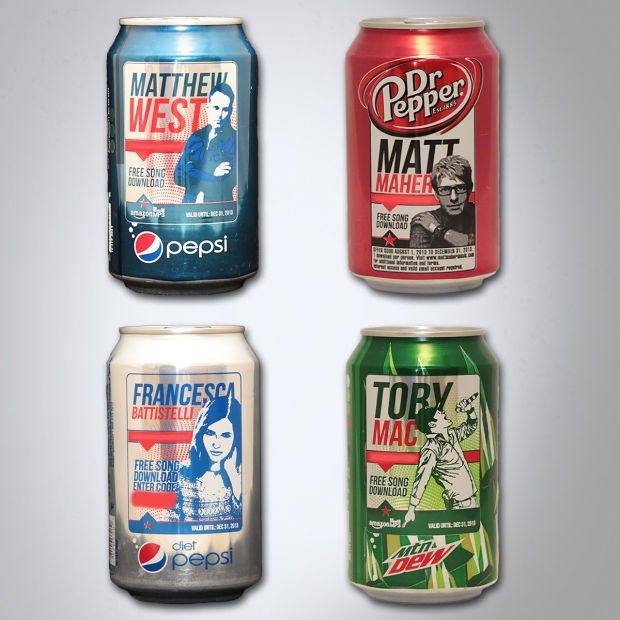 Christian Artist Pop Cans