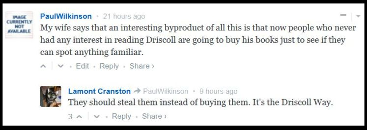 Comment re Mark Driscoll Plagiarism