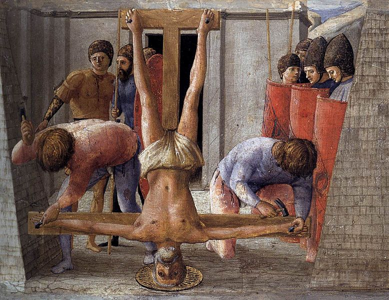 Crucifixion of St. Peter (Wikipedia Commons) Click image for link