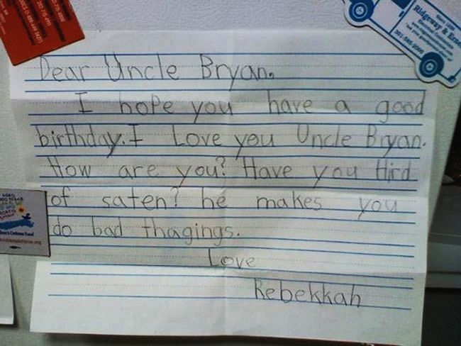 Dear Uncle Bryan