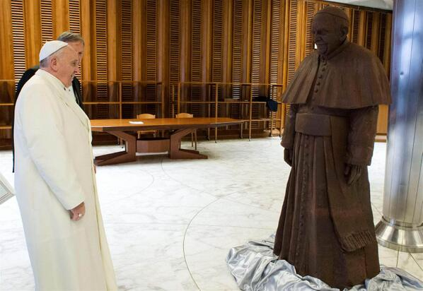 Chocolate Pope - NBC News Photo