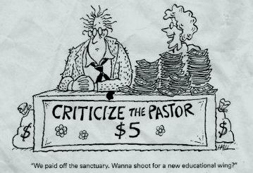 Criticize the Pastor