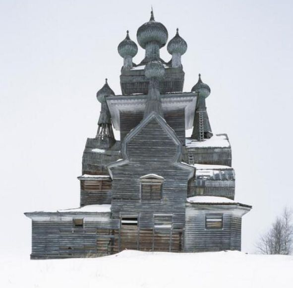 Abandoned Wooden Church in Russia