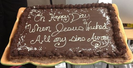 Baptism Cake from Café Church Kingston Ontario