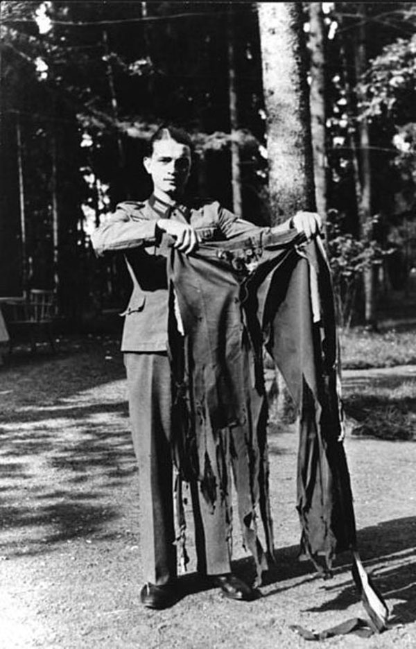 Hitler's Pants after the assassination attempt. Some feel that surviving the event only empowered him more.