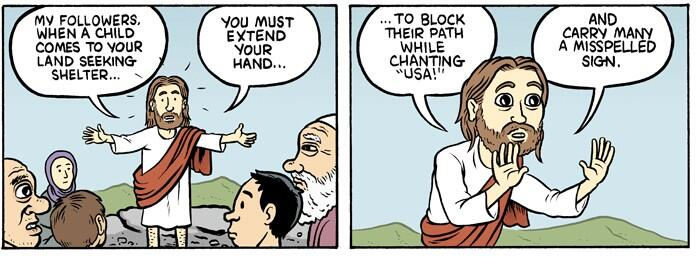 Immigration Jesus Cartoon