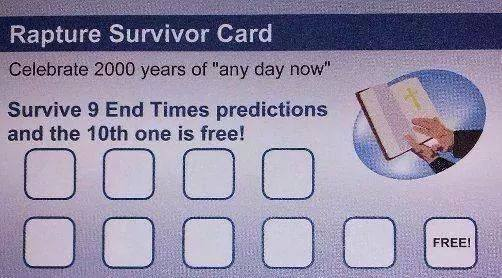 Rapture Survivor Card