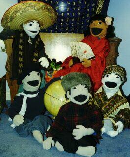 My wife makes these. I didn't have a closing photo this week, so I thought you'd enjoy seeing the puppets in an international mood.