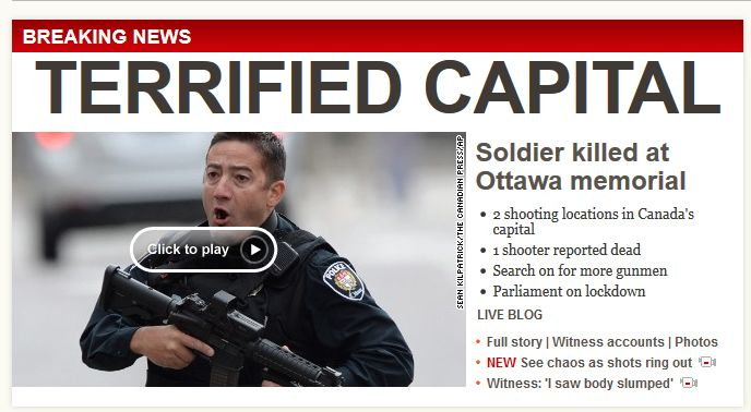 Canada Parliament October 22 2014 CNN Website