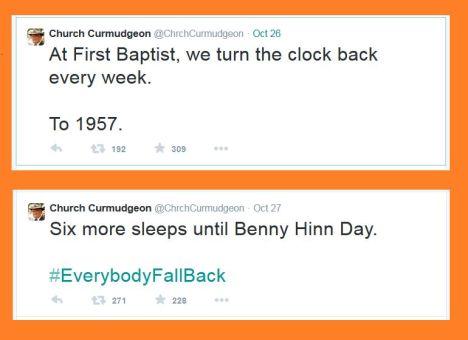 Church Curmudgeon Time Change
