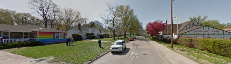 Westboro Baptist and its Neighbor - from Google Street View