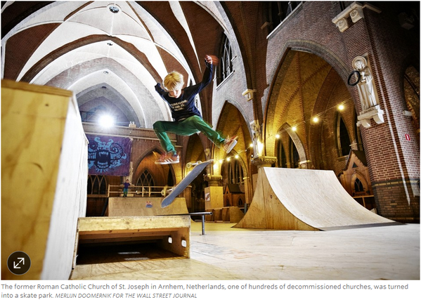 Cathedral Repurposed as Skateboard Park