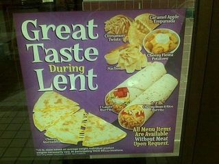 Found online in 2009, this Taco Bell menu board was not made up.