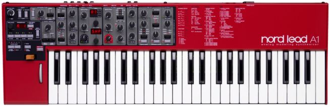 The new Nord Lead A1 analog modeling synthesizer joins brands such as Moog, Korg, Novation, Studio Logic, Akai, Access, Yamaha and Roland.
