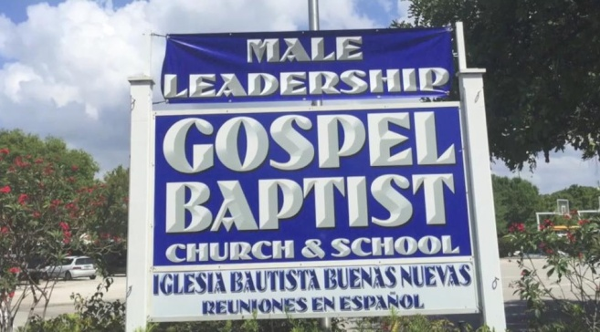 From Stuff Fundies Like: Gospel Baptist Church wants to make extra special sure that you don't think women are in charge of anything more important than the nursery. They want to make so sure that they had an extra banner made just to point it out.