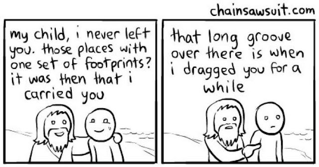 Footprints Poem Amended
