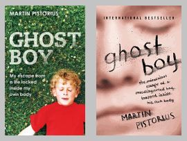 Original cover (left) and current edition (right) of Ghost Boy