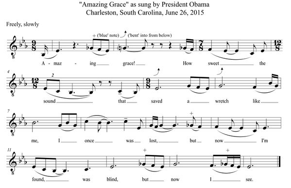 President Obama - Amazing Grace - transcribed by Brian Barone