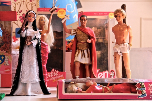 Praying to Barbie? No, you can't buy them, but as this story at Religion News Service reports, you can see them at an Argentine art installation.