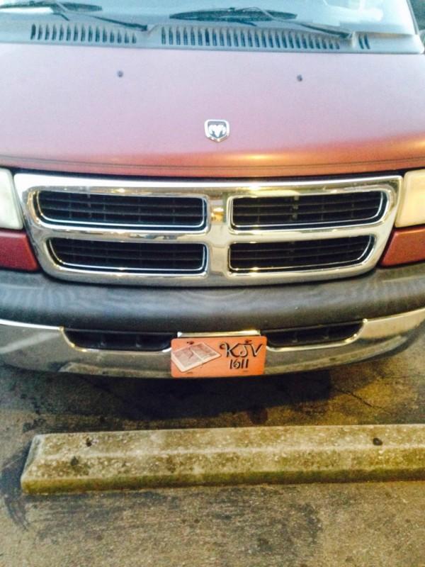 KJV License Plate