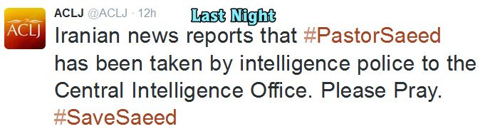 Saeed Release ACLJ 1 Night Before
