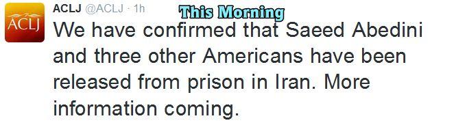Saeed Release ACLJ 2 Next Morning