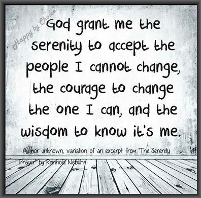 Serenity Prayer Modified