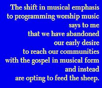 Worship music on Christian radio