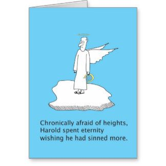 Fear of Heights card at Zazzle dot com
