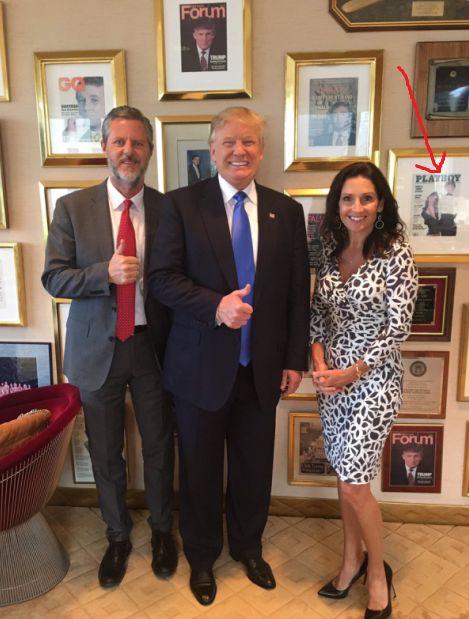Trump w Falwell Jr