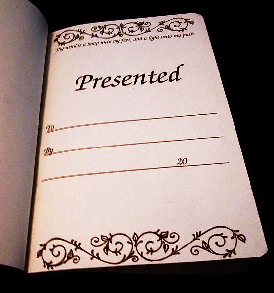 Book Presentation Page
