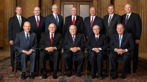 Admittedly these Mormon leaders aren't the subject of this article, but it kinda set up the vibe we were looking for. Your church's head office dress code may vary.