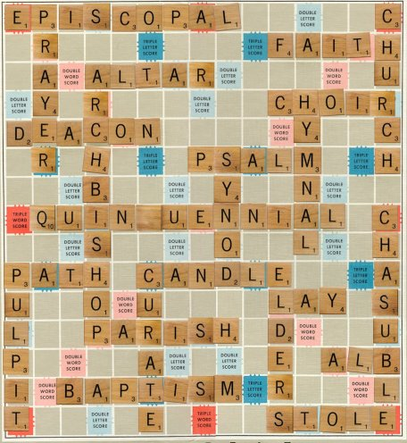 "From Twitter: ""Some churchy words for @worldscrabble champs this week, Quinquennial scores at least 30 if you could actually do it!"""